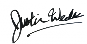 Justin Wedes signature